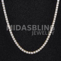 5Mm Tennis Chain - Gold/white Gold / 36Inch