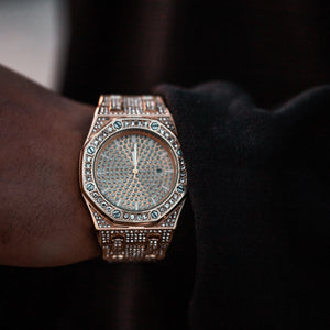 Iced Royal Watch - Gold/White Gold/Two Tone