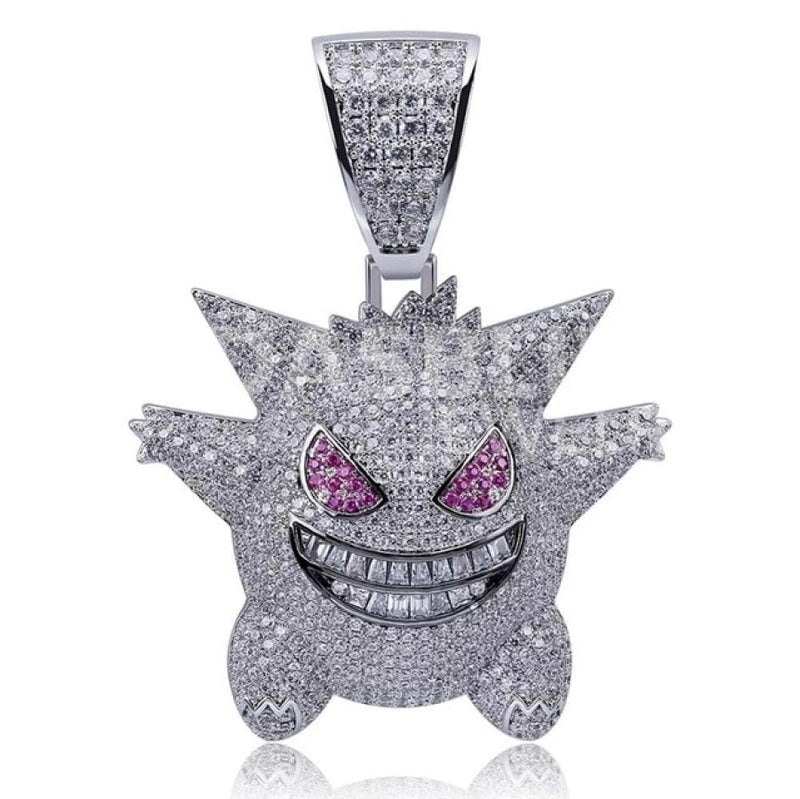 Gengar Pendant - Gold/white Gold/purple
