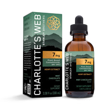 Load image into Gallery viewer, Hemp Extract Oil Mint Chocolate 7mg - 3.38 Oz by Charlotte's Web