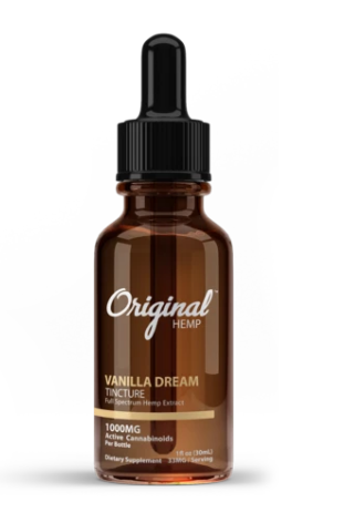 Vanilla Dream Tincture | Full Spectrum Hemp Extract 1000mg - 30ml by Original Hemp
