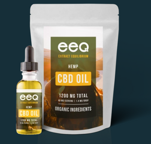 CBD Hemp Oil 1200mg - 1 Oz by Eeq USA