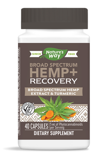 Hemp + Recovery Broad Spectrum Hemp - 40 Caps by Nature's Way