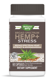 Hemp + Stress Broad Spectrum - 60 Caps by Nature's Way