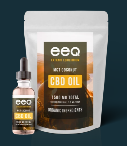 CBD Infused MCT Coconut Oil 1500mg - 0.5 Oz by Eeq USA