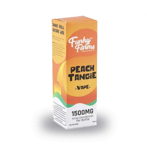 CBD Peach Tangie Vape Juice 1500mg - 15 ml by Funky Farms