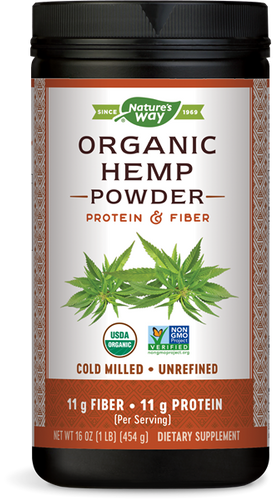 Hemp Protein & Fiber Powder - 16 Oz by Nature's Way