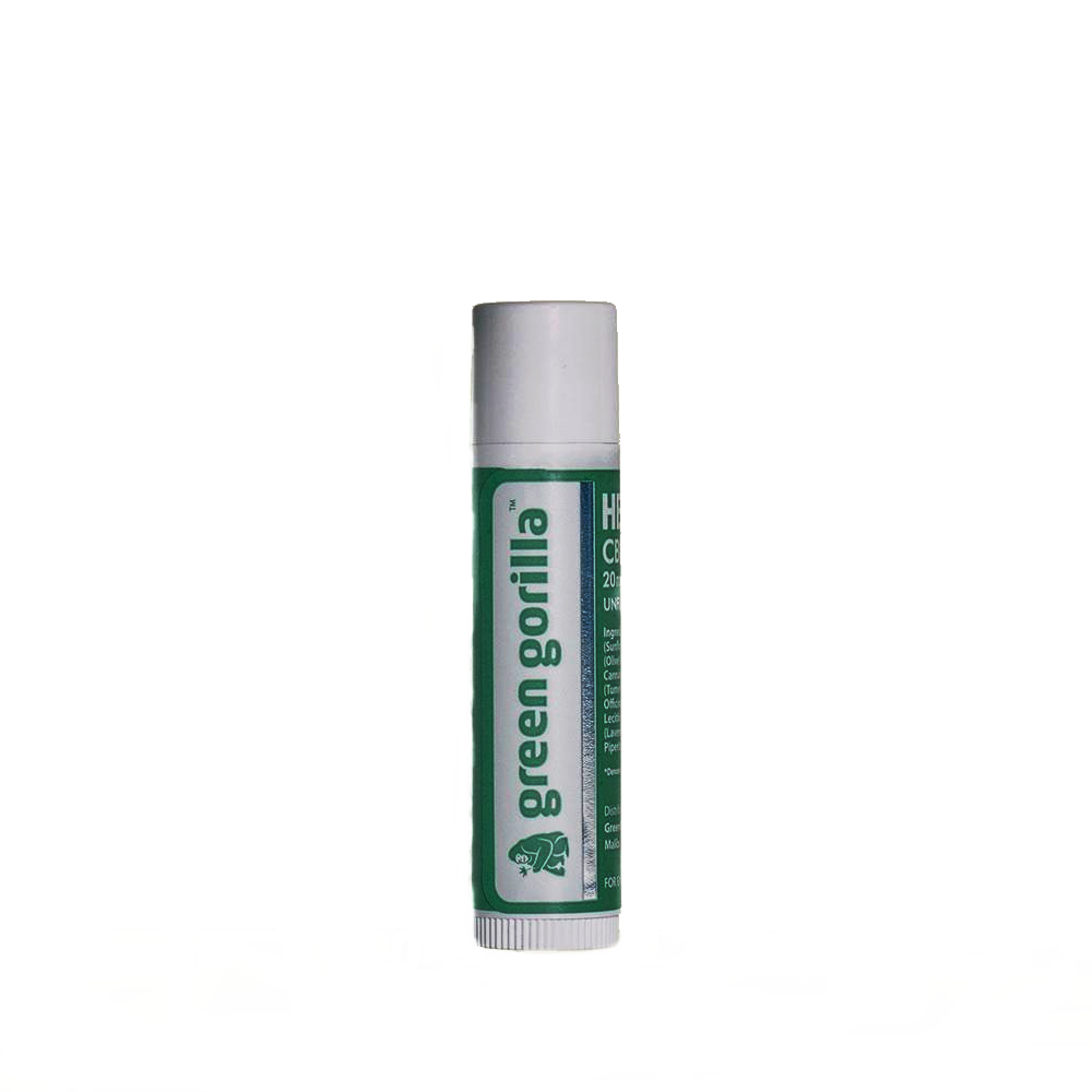 Green Gorilla Certified Organic CBD Lip Balm - 20mg
