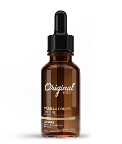 Vanilla Dream Tincture | Full Spectrum Hemp Extract 2000mg - 30ml by Original Hemp