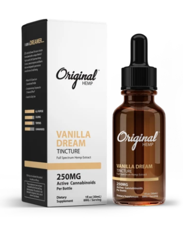Vanilla Dream Tincture | Full Spectrum Hemp Extract 250mg - 30ml by Original Hemp