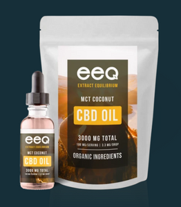 CBD Infused MCT Coconut Oil 3000mg - 0.5 Oz by Eeq USA