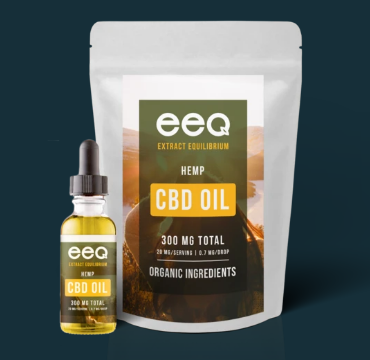 CBD Hemp Oil 300mg - 0.5 Oz by Eeq USA