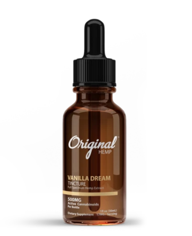 Vanilla Dream Tincture | Full Spectrum Hemp Extract 500mg - 30ml by Original Hemp