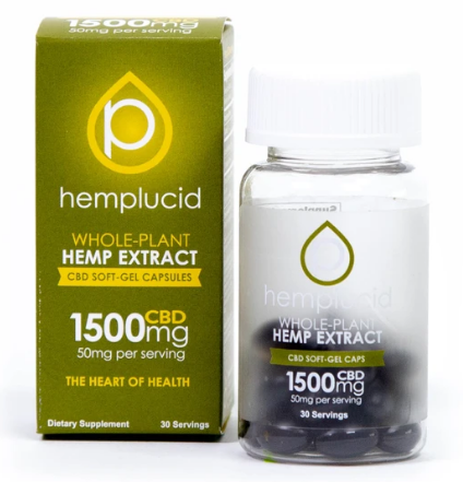 Hemplucid Full-Spectrum CBD Soft-Gel Capsules 50mg - 30 Softgels