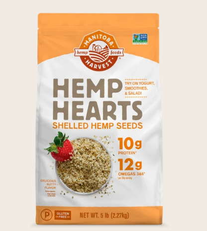 Natural Hemp Hearts Shelled Hemp Seeds Delicious Nutty Flavor - 5lb Oz by Manitoba Harvest