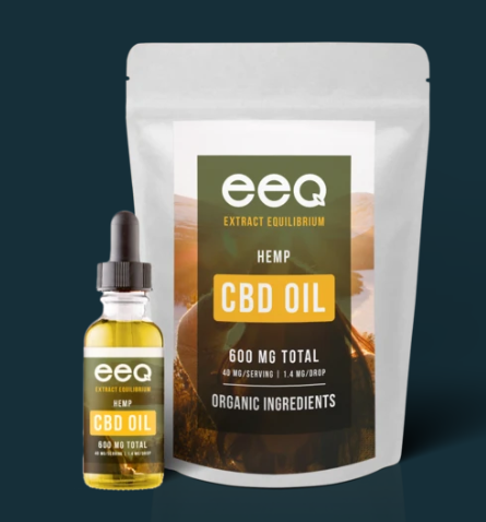 CBD Hemp Oil 600mg - 0.5 Oz by Eeq USA