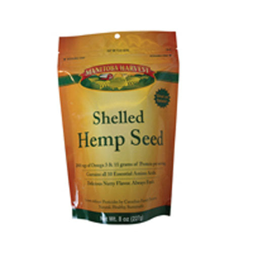 Hemp Hearts Raw Shelled Seeds Delicious Nutty Flavor 8 Oz by Manitoba Harvest