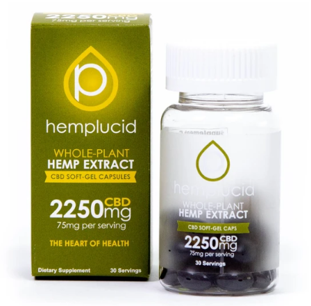 Hemplucid Full-Spectrum CBD Soft-Gel Capsules 75mg - 30 Softgels