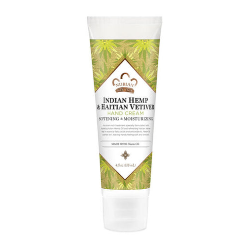 Hand Cream Indian Hemp & Haiten Vetiver 4 Oz by Nubian Heritage