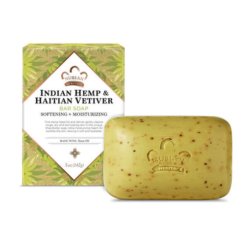 Bar Soap Indian Hemp & Haitian Vetiver 5 Oz by Nubian Heritage