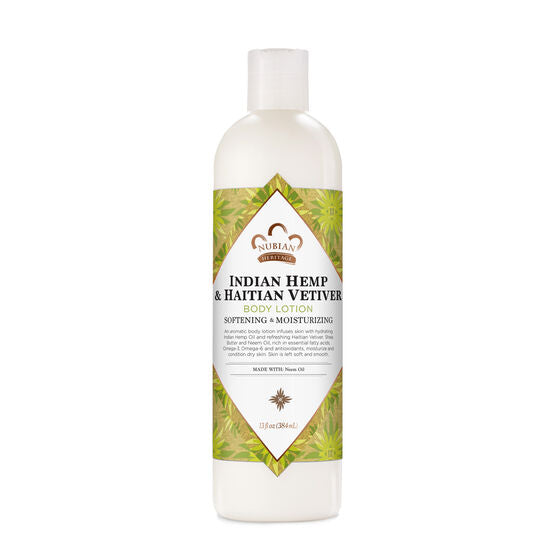 Body Lotion Indian Hemp & Haitian Vetiver 13 Oz by Nubian Heritage