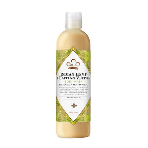Body Wash Indian Hemp & Haitian Vetiver - 13 fl Oz by Nubian Heritage