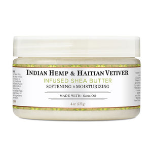 Indian Hemp & Haitian Vetiver Infused Shea Butter - 4 Oz by Nubian Heritage
