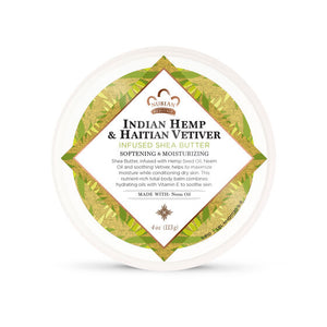 Indian Hemp & Haitian Vetiver Infused Shea Butter - 4 Oz by Nubian Heritage - Top