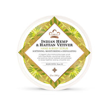 Load image into Gallery viewer, Bath & Body Scrub Indian Hemp & Haitian Vetiver 12 Oz by Nubian Heritage - top