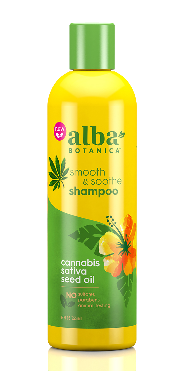 Smooth & Soothe Shampoo Cannabis Sativa Seed Oil - 12 fl oz by Alba Botanica