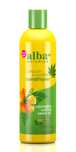 Smooth & Soothe Conditioner Ccannabis sativa seed oil - 12 Oz by Alba Botanica