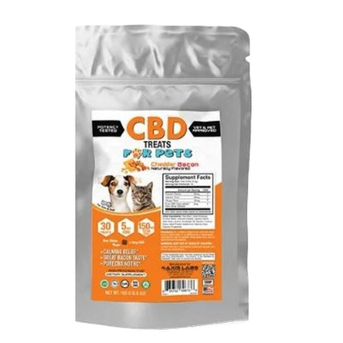 Axis Labs CBD Treats for Pets Cheddar Bacon 30 Count