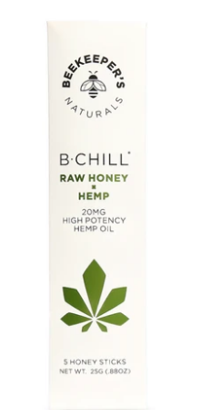 B.Chill Hemp Honey Stick 5 Piece by BeeKeeper's Natural