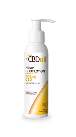 CBD Lotion Gold Formula 200mg Lavender - 3.7 Oz by Plus CBD oil