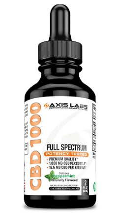 Full Spectrum CBD 1000 Oil (Peppermint) - 2 oz by Axis Labs Inc