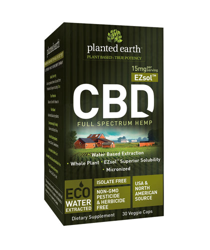 CBD Hemp Ezsol UnFlavor 15mg - 30 Caps by Planted Earth