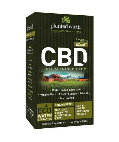 CBD Hemp Ezsol UnFlavor 15mg - 60 Caps by Planted Earth