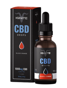 CBD Oil Drops 1000mg Blood Orange - 1 oz by Ignite CBD