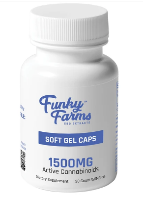CBD Soft Gel Caps 1500mg - 30 Count by Funky Farms