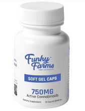 Load image into Gallery viewer, CBD Soft Gel Caps 750mg - 30 Count by Funky Farms