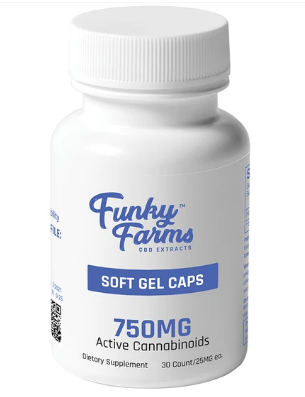 CBD Soft Gel Caps 750mg - 30 Count by Funky Farms