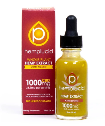 Full-Spectrum CBD Water Soluble 1000mg - 1 Oz by Hemplucid