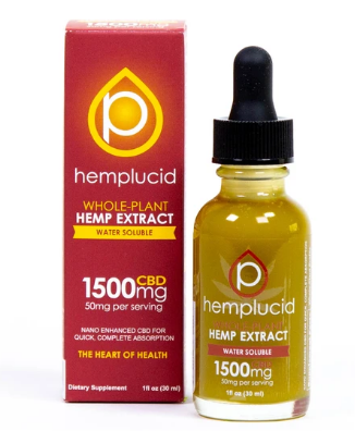 Full-Spectrum CBD Water Soluble 1500mg - 1 Oz by Hemplucid