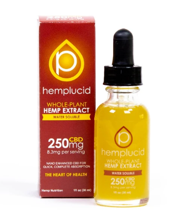 Full-Spectrum CBD Water Soluble 250mg - 1 Oz by Hemplucid