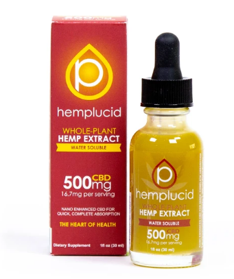 Full-Spectrum CBD Water Soluble 500mg - 1 Oz by Hemplucid