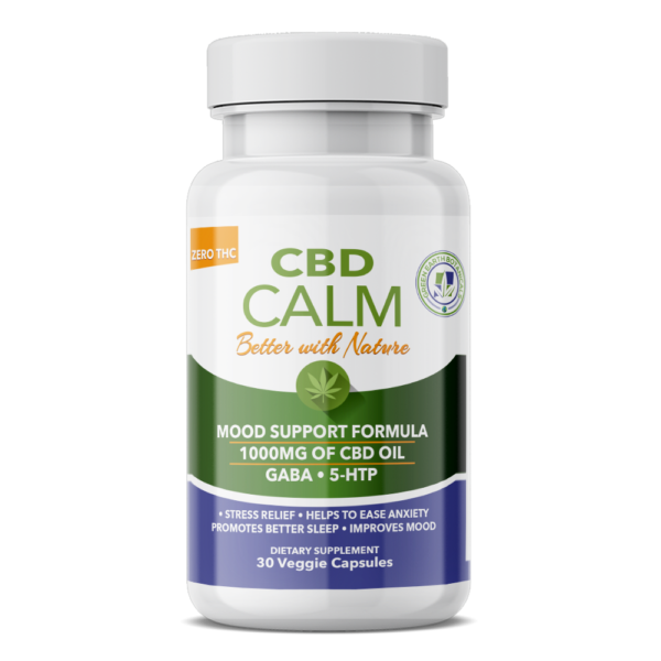 Hemp Calm with Gaba & 5-HTP UnFlavor - 30 VCAP by Green Earth Botanicals