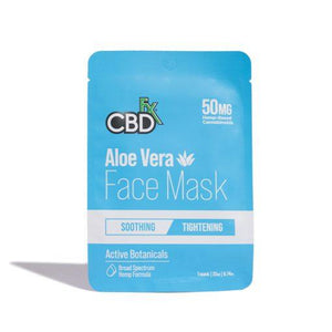 CBDfx - CBD Hemp Aloe Vera Face Mask - 50mg