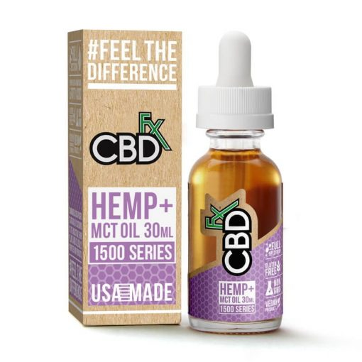 CBD Oil Tincture 1500mg ((Hemp + MCT Oil) - 30 ml by CBDfx