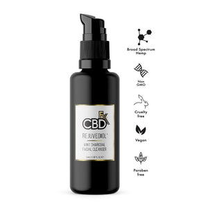 CBDfx - CBD Face Cleanser Rejuvediol™ Mint Charcoal - 100 ml