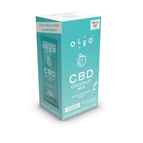 Coconut CBD Drink Mix - 6 Packets by Oleo